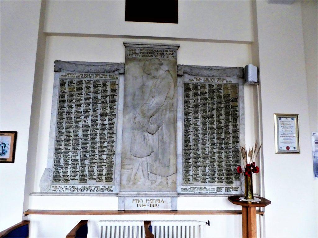 Grimsby Central Hall Fishermans Chapel Memorial Board
