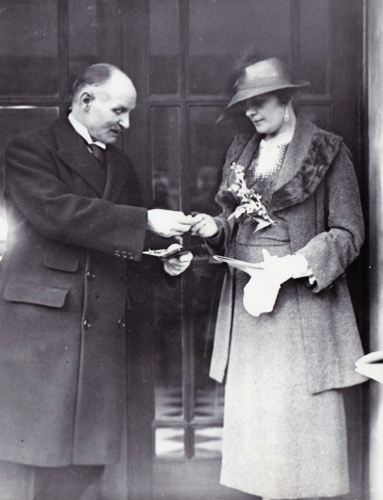The opening of Grimsby Central Hall by Winnie Osborne on 19 March 1936.